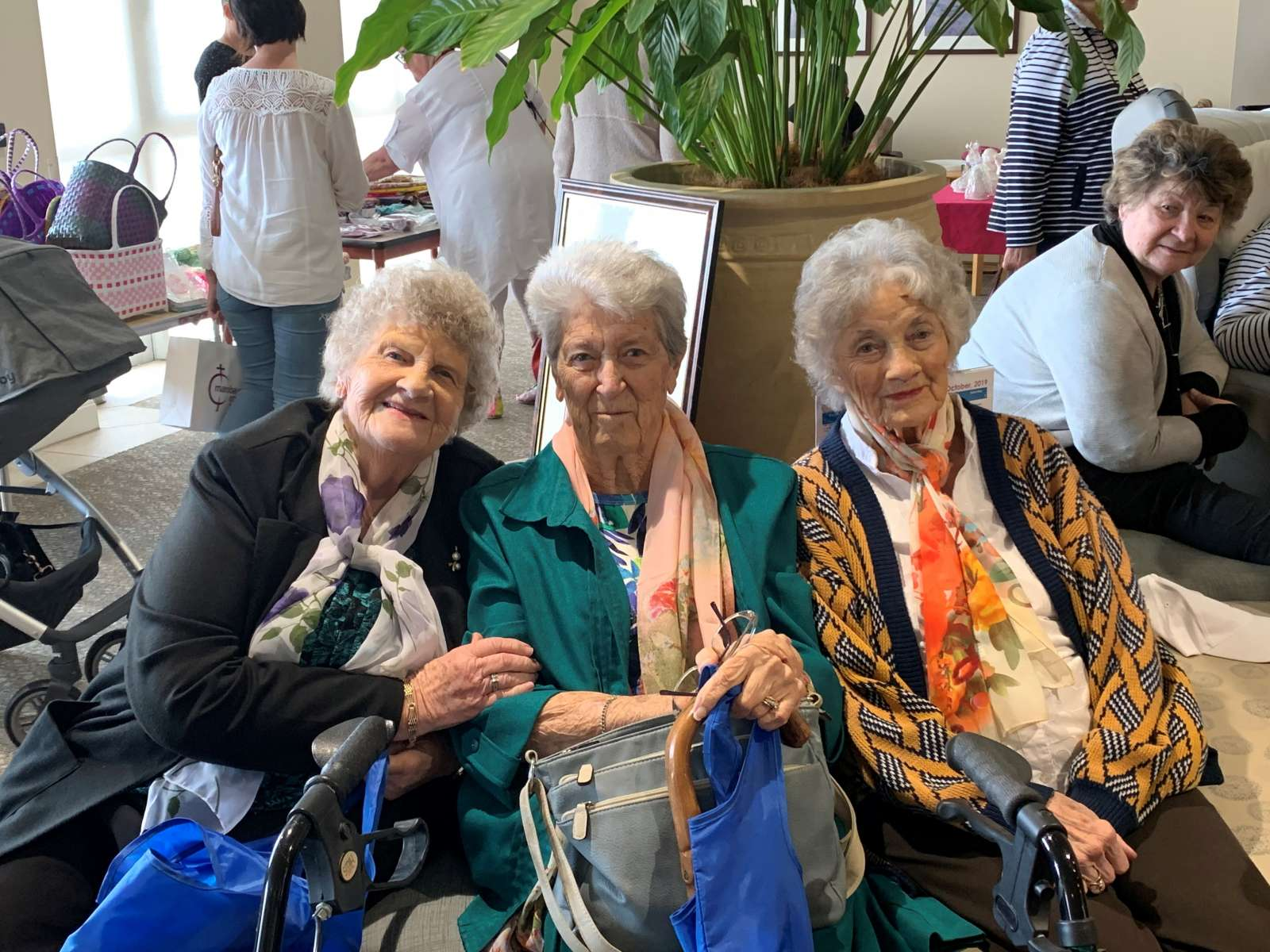 aged care residents smiling